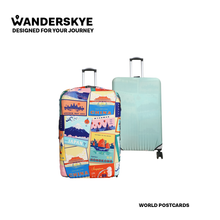 Load image into Gallery viewer, World Postcards - Reversible Luggage Cover