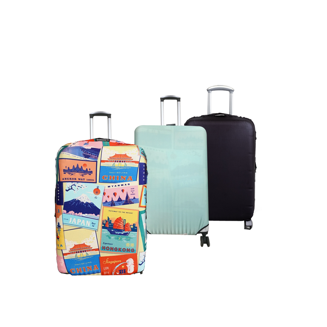 World Postcards - Reversible Luggage Cover