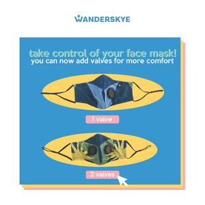 Face Mask with Filter Pocket - Where is Wanderskye (2pcs)