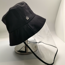 Load image into Gallery viewer, Bucket hat with Detachable Face shield (Black)