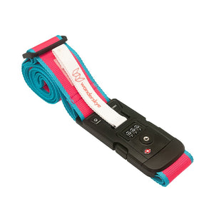 TSA Plain Pink - Luggage Strap with Weighing Scale