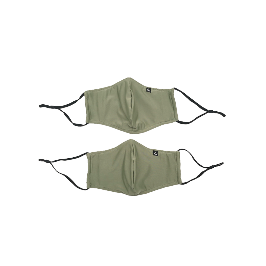 Face Mask with Filter Pocket  - Sage (2pcs)