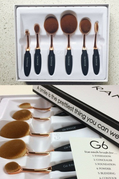 Makeup Brush Set - 6pcs
