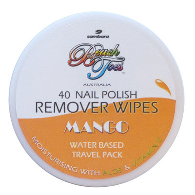 Beach Toes Nail Polish Remover Wipes - Mango - Sambora Beach Toes - Remover Wipes - 1