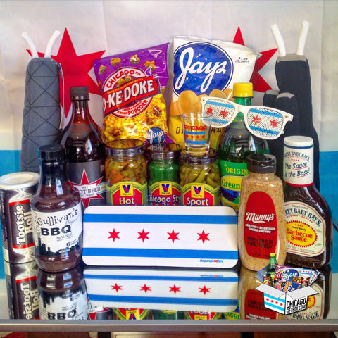 Chicago Gift Box - Vienna Beef, Manny's Deli, Fannie May, Jay's Potato Chips, Chicago Style Foods