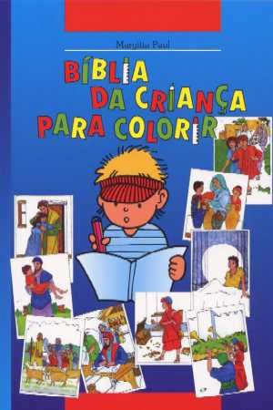 Portuguese - Children's Bible Story Colouring Book