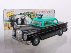 Mercedes Taxi with friction vintage toy