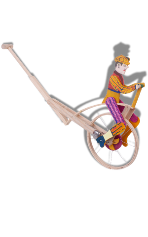 Folk toy cyclist