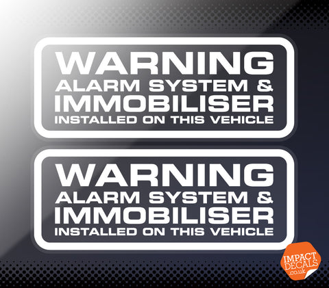 Warning Alarm System & Immobiliser Fitted - Pair