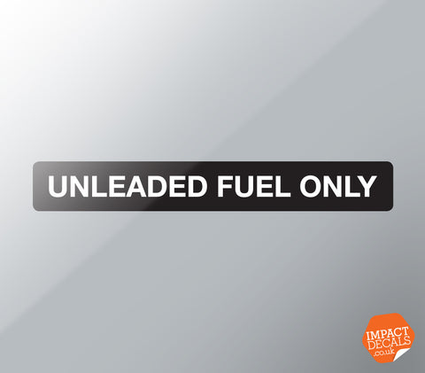 Dashboard Unleaded Fuel Only Decal - Suitable for 944