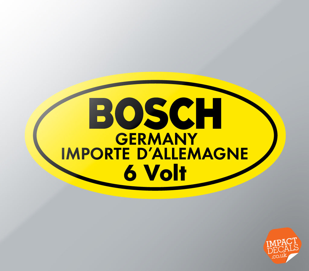 Bosch 6 Volt Coil Decal