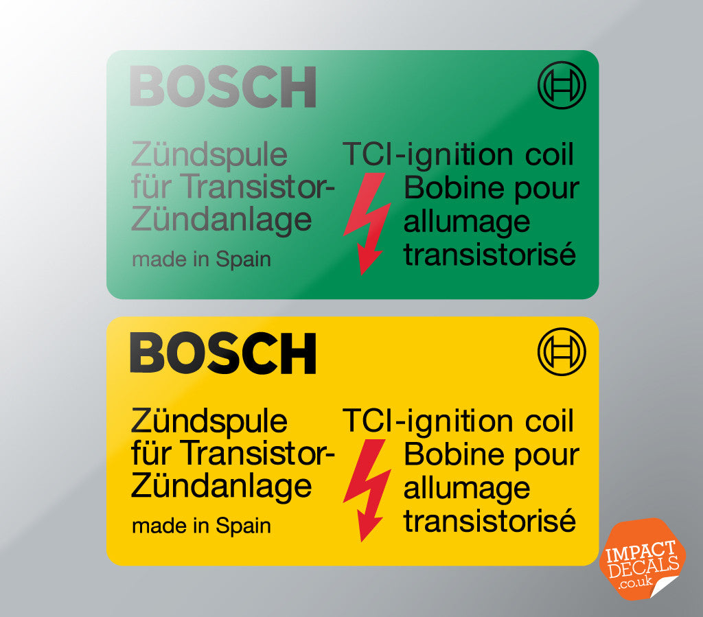 Bosch TCI Coil Decal