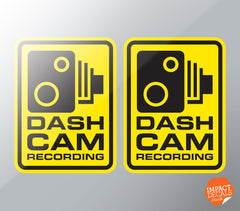 DASH CAM RECORDING DECAL