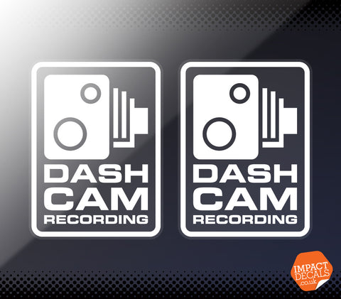 Dashcam Recording Window Decal #1