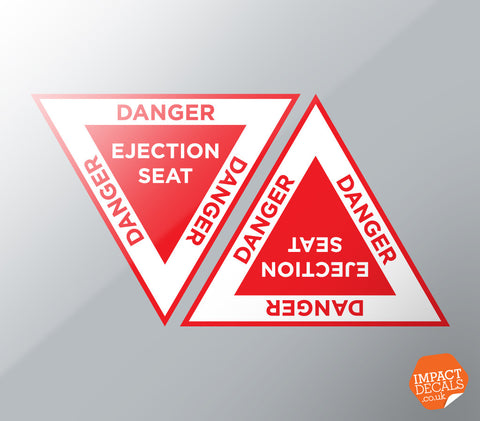 Warning Ejection Seat Decal Set