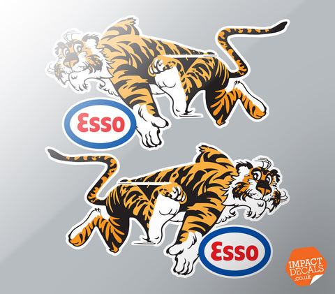 Esso Tigers. Race or Rally Sponsorship Decal Pair