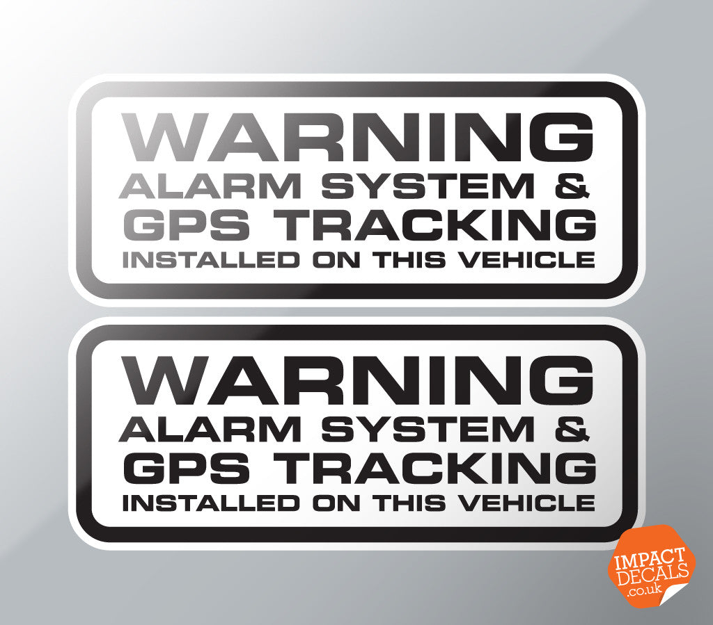 Warning Alarm System & GPS Fitted Decal