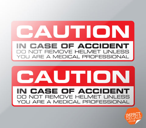 Crash Helmet Warning Decal and Blood Group Marker