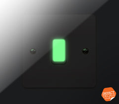 Glow in the dark light switch stickers