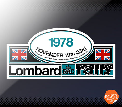 1978 Lombard RAC Rally Decal