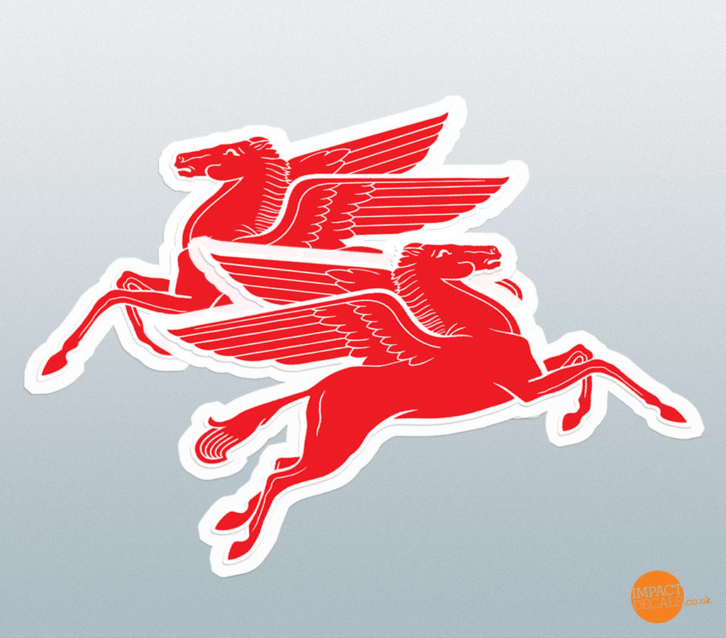 Pegasus Flying Horse Decal Pair