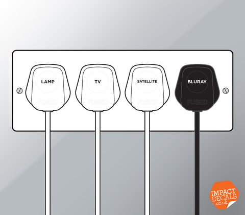 Plug Identification Decals - Set of 108 Markers