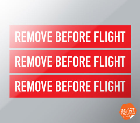 Remove Before Flight Decals - Set of 3