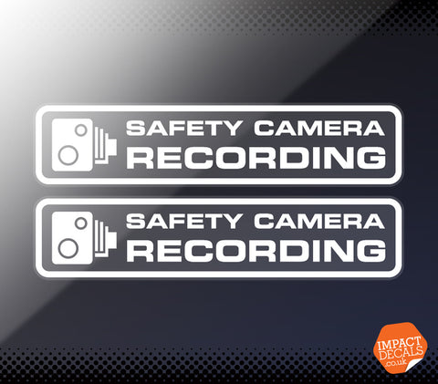 Safety Camera Recording Window Decal - Pair