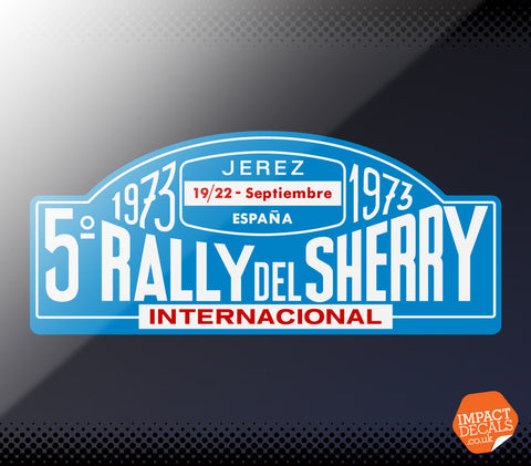 1973 Sherry Rally / Rally Del Sherry Decal