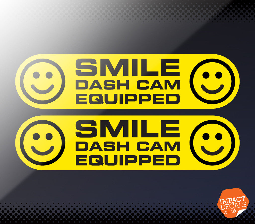 SMILE Dash Cam Equipped Decal