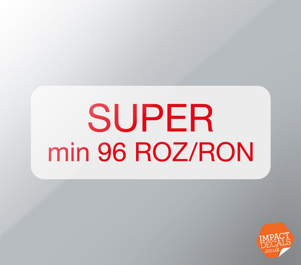 SUPER Min 96 ROZ/RON Decal