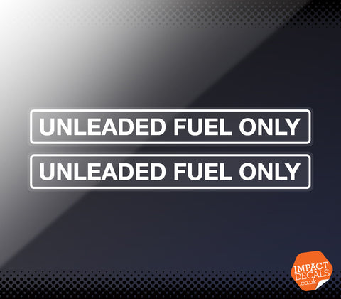Unleaded Fuel Only Decal - Pair