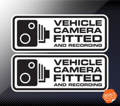 Vehicle Camera Fitted and Recording Decal