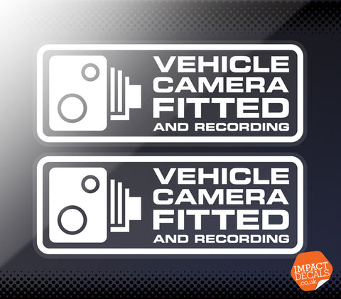 Vehicle Camera Fitted and Recording - Pair