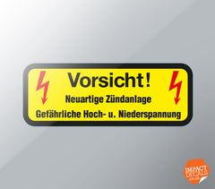 Vorsicht! High Voltage Coil & CDI Box Decal
