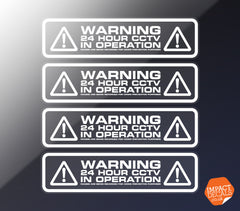 Warning 24 Hour CCTV in Operation Decal