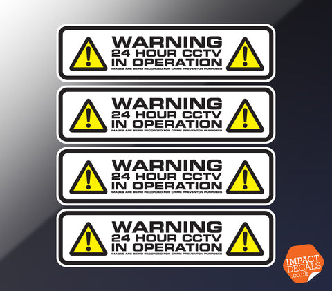 24 Hour CCTV Decal #1 - Set of 4