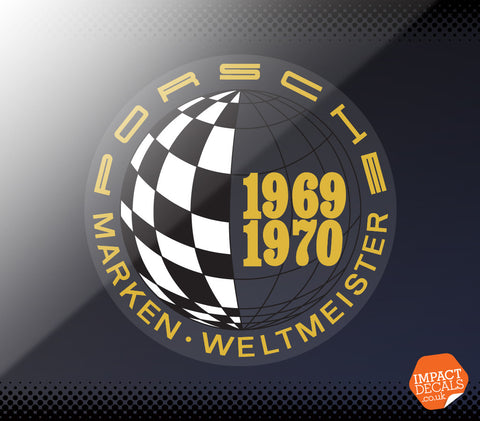 Porsche 1969 / 1970 Marken Weltmeister Window Decal. Genuine Item