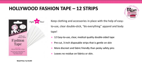 Hollywood Fashion Tape 12 Strips