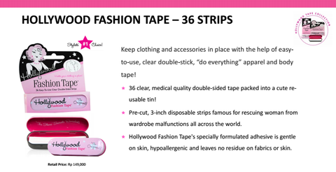 Hollywood Fashion Tape 36 strips in a Tin