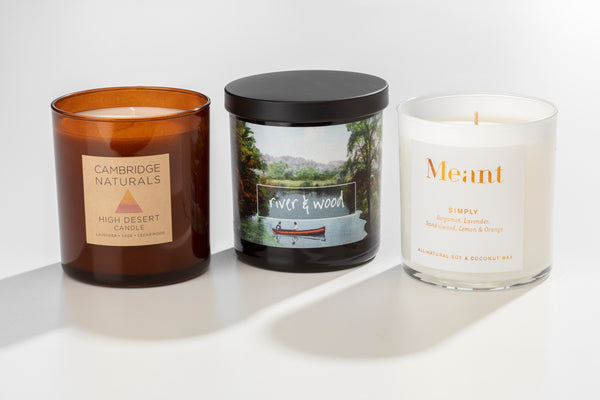 Private label candles wholesale made in the USA by women artisans at Prosperity Candle with your branding