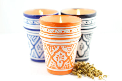 Essaouira Candle - Prosperity Candle handmade by women artisans fair trade soy blend candles