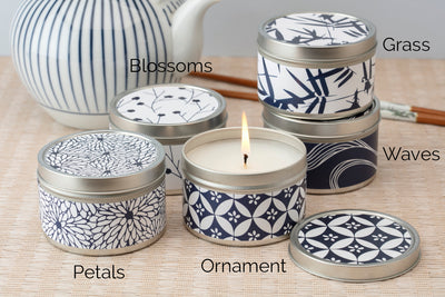 Decorative Tin Candles Wholesale - ethically made soy blend candles poured by women artisans at Prosperity Candle