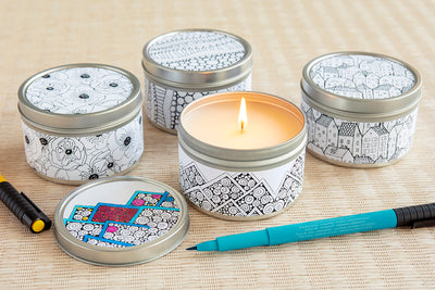 Doodle Candles