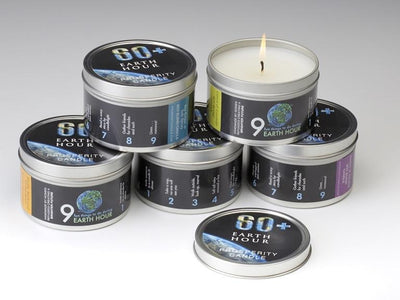Earth Hour Candle - Prosperity Candle handmade by women artisans fair trade soy blend candles