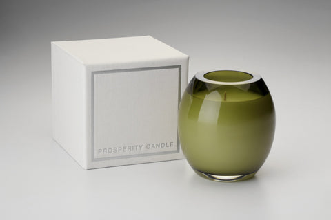 Olive Green Brilliance Candle