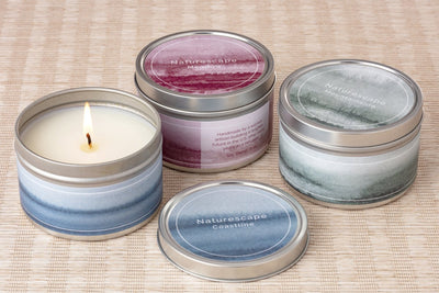 Naturescape candles at wholesale handmade by women artisans in the United States. Fair Trade.