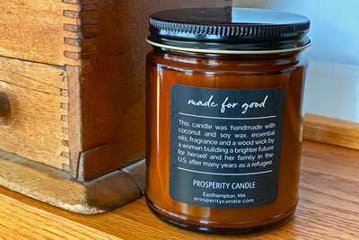 Pioneer Valley Candles - Ethically made soy blend candles that give back, handmade by women refugees in the U.S.