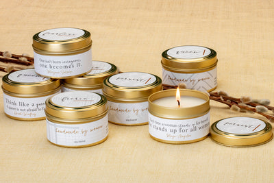 She Inspires Travel Tins - Ethically made wholesale soy blend candles made in the U.S. to support women