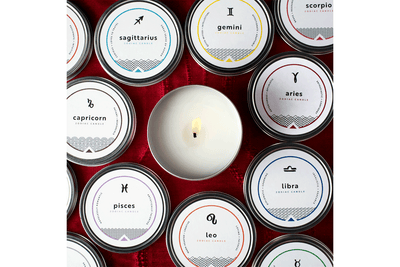 Shopify Zodiac Candles fair trade soy blend ethically handmade by women artisans at Prosperity Candle supporting refugees